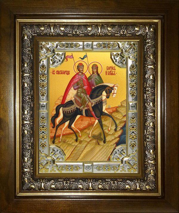 купить икону святые Борис и Глеб князья