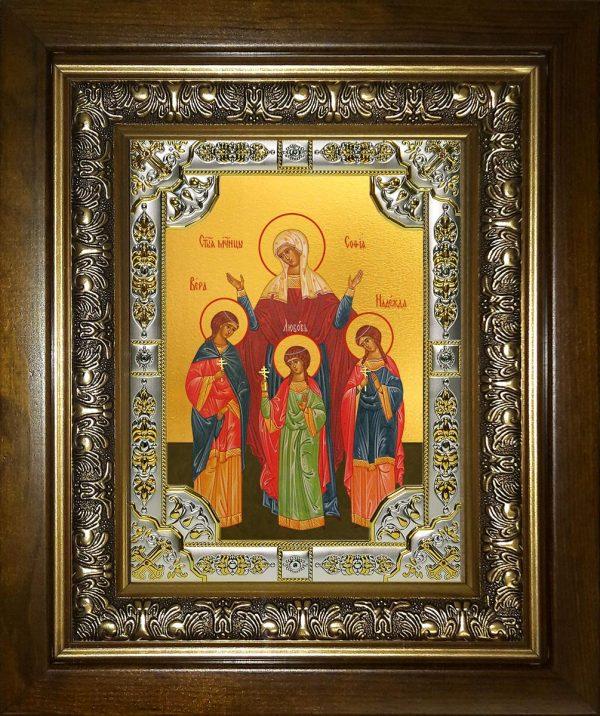 купить икону святых Веры, Надежды, Любови и матери их Софии