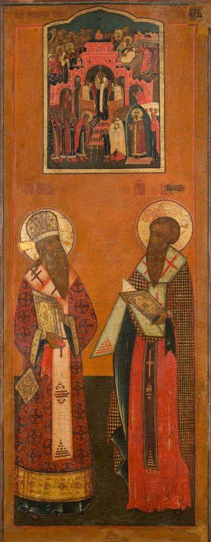купить икону Модест Иерусалимский и Власий Севастийский