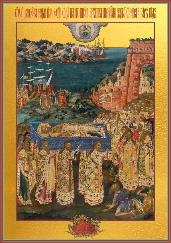 купить икону Перенесение мощей святителя Николая в Бари