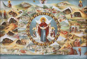 купить икону Афонские святые