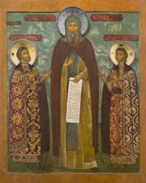 купить икону святого Феодора Смоленского со чадами