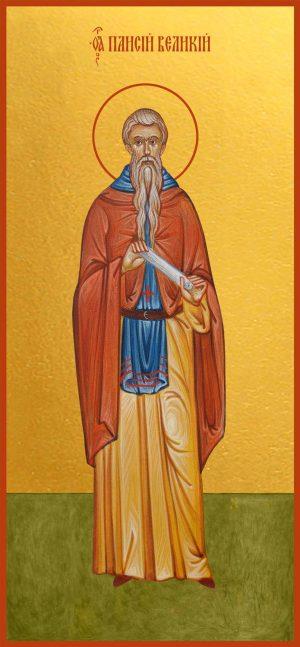 купить икону святого Паисия Великого преподобного