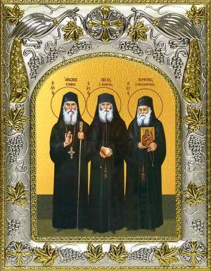 купить икону святых Иаков (Тсаликис) Эвбейский, Паисий Святогорец, Порфирий Кавсокаливит