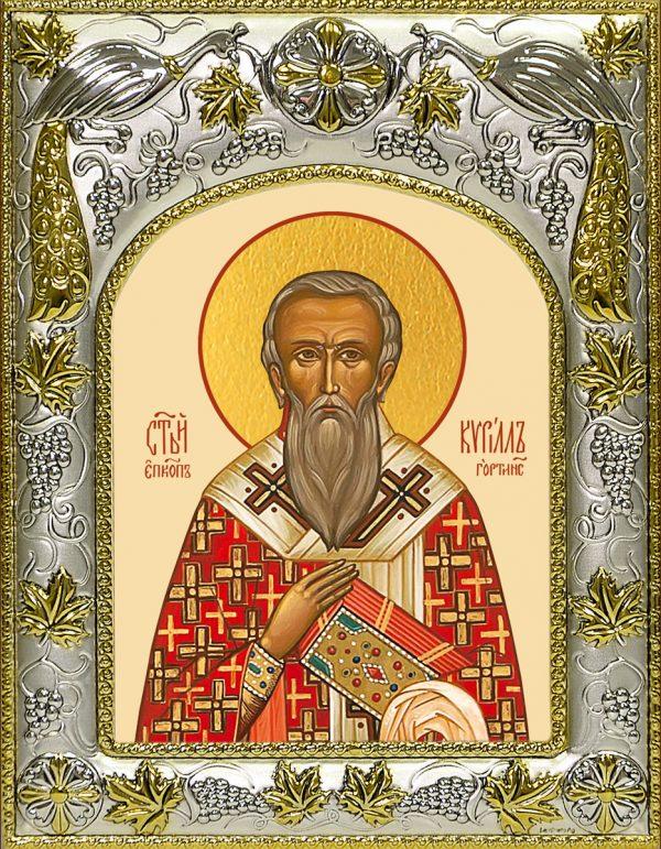 купить икону святой Кирилл Гортинский