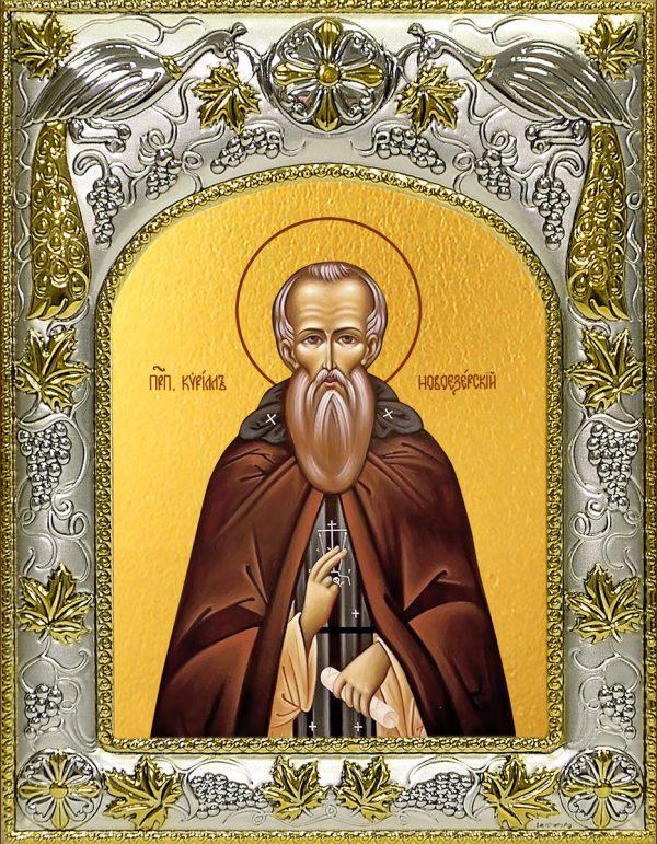купить икону святой Кирилл Новоезерский, Новгородский