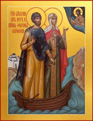 купить икону Петра и Февронии благоверных