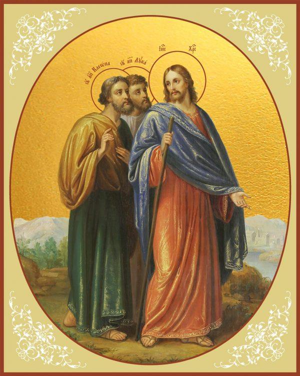 купить икону Христос и апостолы на пути в Эммаус