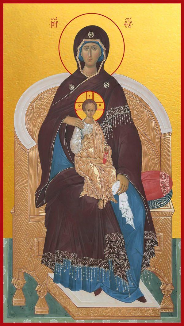 купить икону Божия Матерь на Престоле