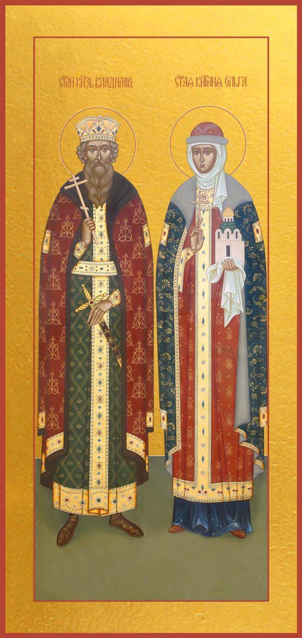 купить икону Владимир и Ольга равноапостольные великие князья