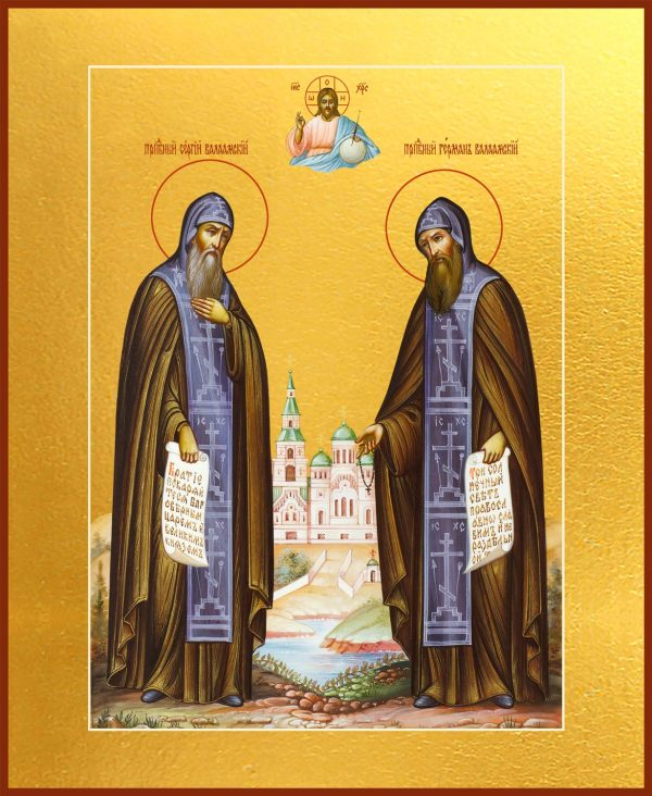 купить икону святых Преподобных Сергия и Германа