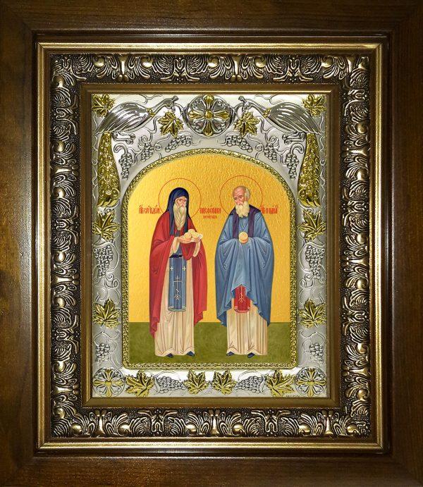 купить икону святые Спиридон и Никодим, просфорники Печерские