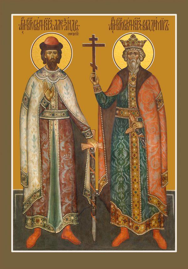 купить икону Александра и Владимира благоверных