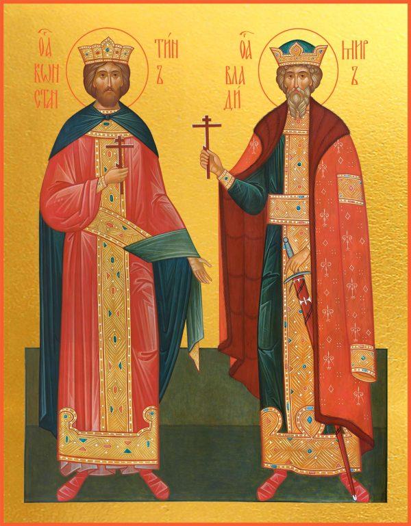 купить икону Константин царь и Владимир великий князь