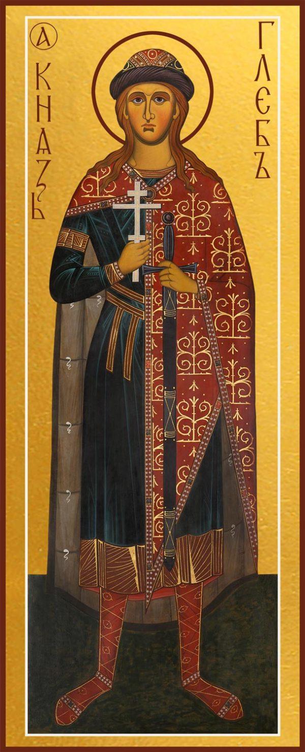 Купить икону князя Глеба благоверного