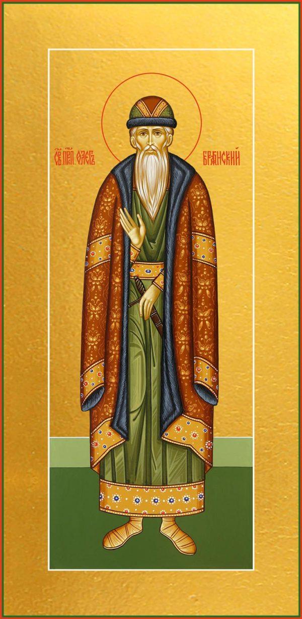 купить икону святого князя Олега Брянского