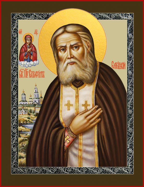 Купить икону Серафима Саровского