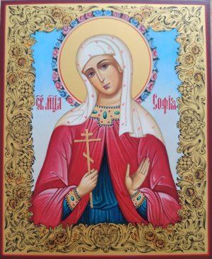 купить писаную икону Софии Римской