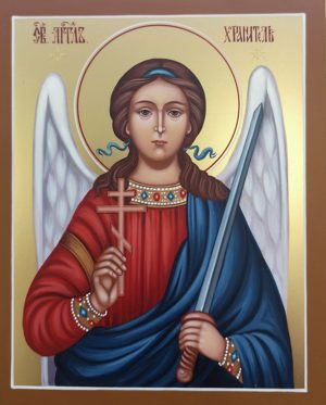купить писаную икону Ангела Хранителя