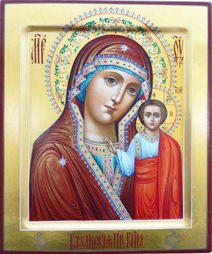 купить писаную икону Казанской Божией Матери