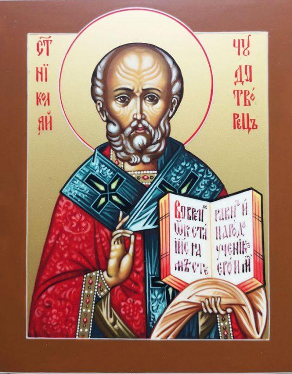 купить писаную икону Николая Чудотворца