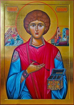 купить писаную икону Пантелеимона великомученика