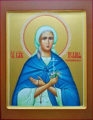 купить писаную икону Пелагии Дивеевской Серебренниковой
