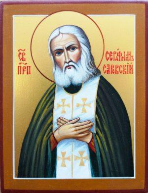 купить писаную икону Серафима Саровского