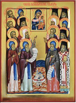 купить писаную икону Собор Валаамских святых