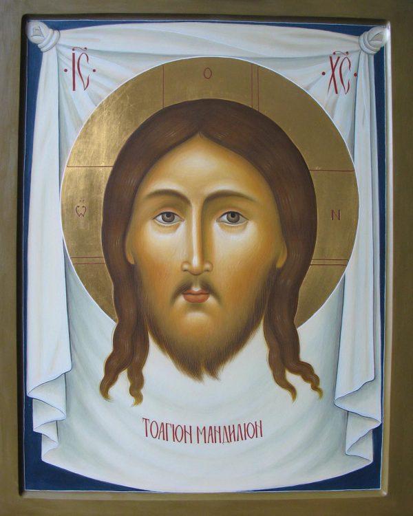 купить писаную икону Спас Нерукотворный