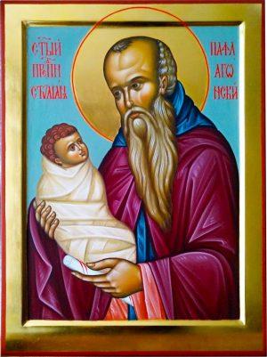 Купить писаную икону Стилиана Пафлагонского