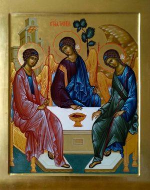 купить писаную икону Святой Троицы