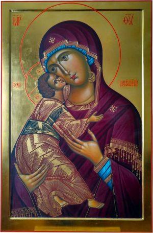 купить писаную икону Божией Матери Владимирская