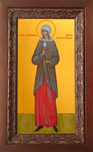 Купить икону Ксении Петербургской в киоте