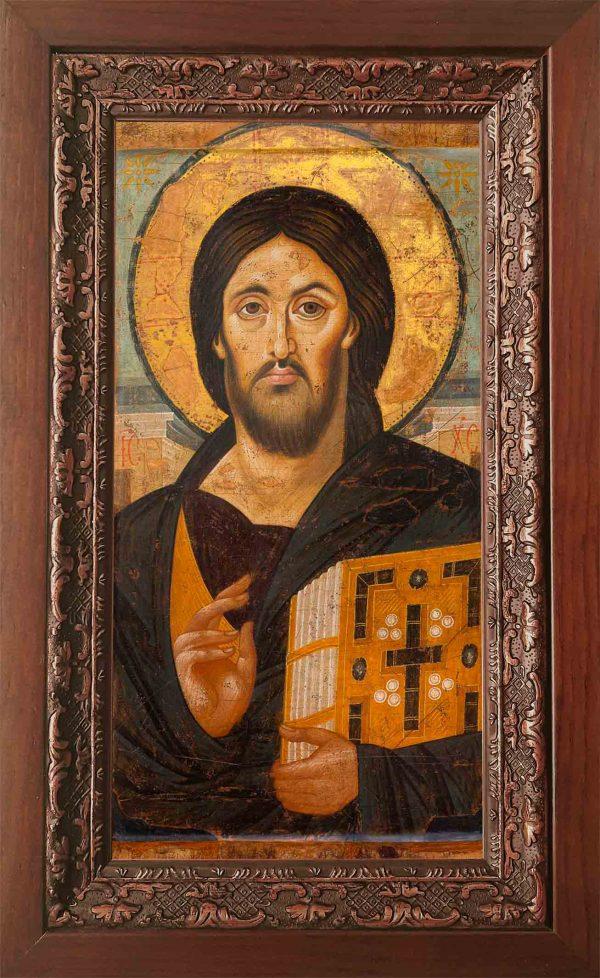 Купить икону Христос Пантократор Спас Синайский в киоте