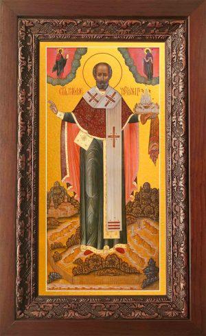 купить икону святого Николая Чудотворца в киоте