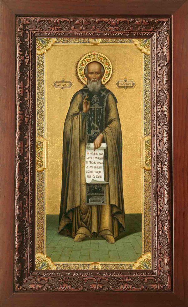 купить икону в киоте Иосифа Волоколамского в православном интернет магазине
