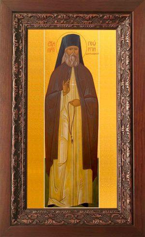 Купить икону Георгия Даниловского в киоте в православном интернет магазине