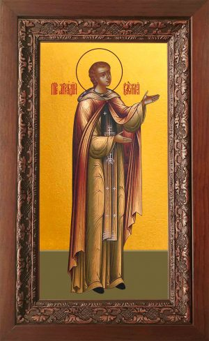 Купить икону святого Аркадия Вяземского в киоте в православном интернет магазине