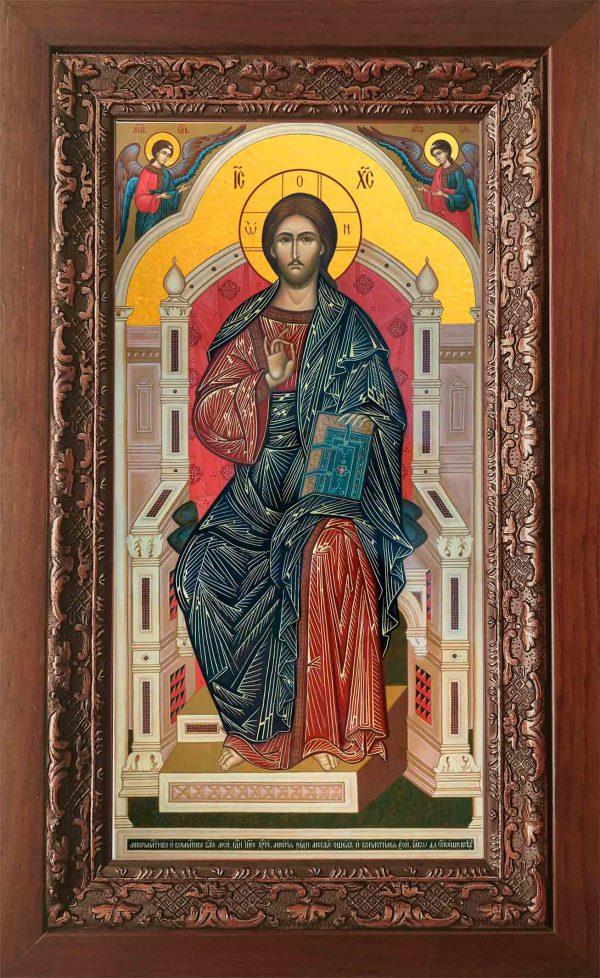 Купить икону Спасителя в киоте